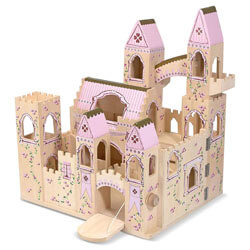 Melissa and Doug Folding Castle Wooden Dollhouse