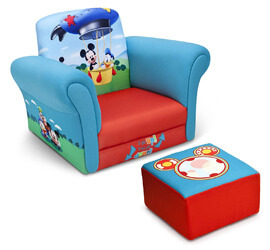 Delta Children Upholstered Chair, Disney Mickey Mouse Chair