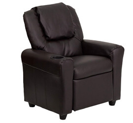 Flash Furniture Leather Kids Recliner