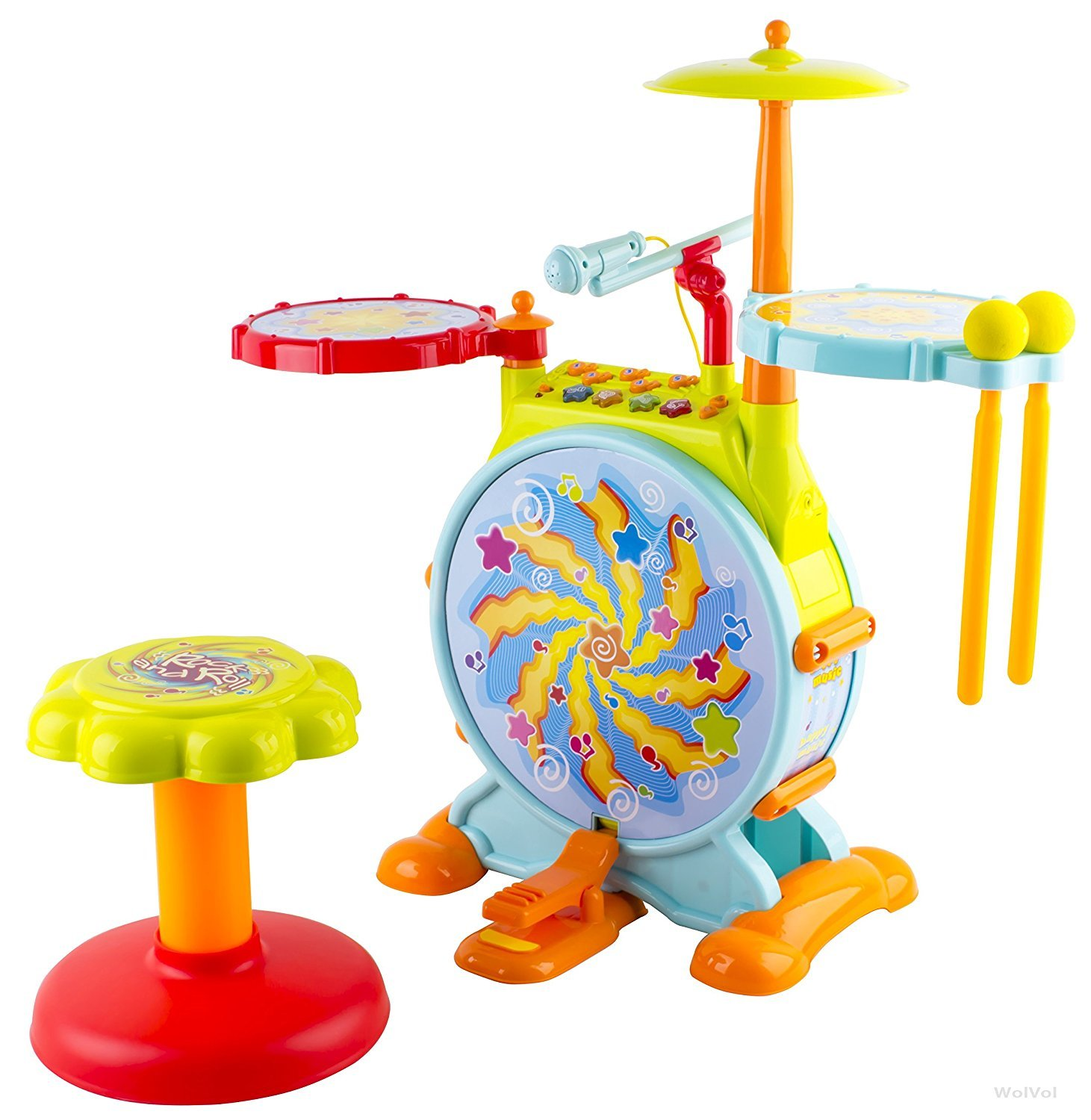 WolVol Electric Toy Drum Sets