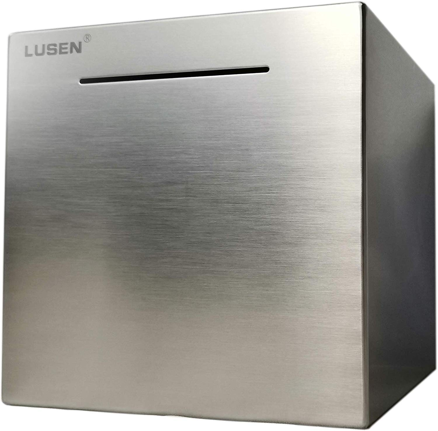 LUSEN Safe Stainless Steel Piggy Bank