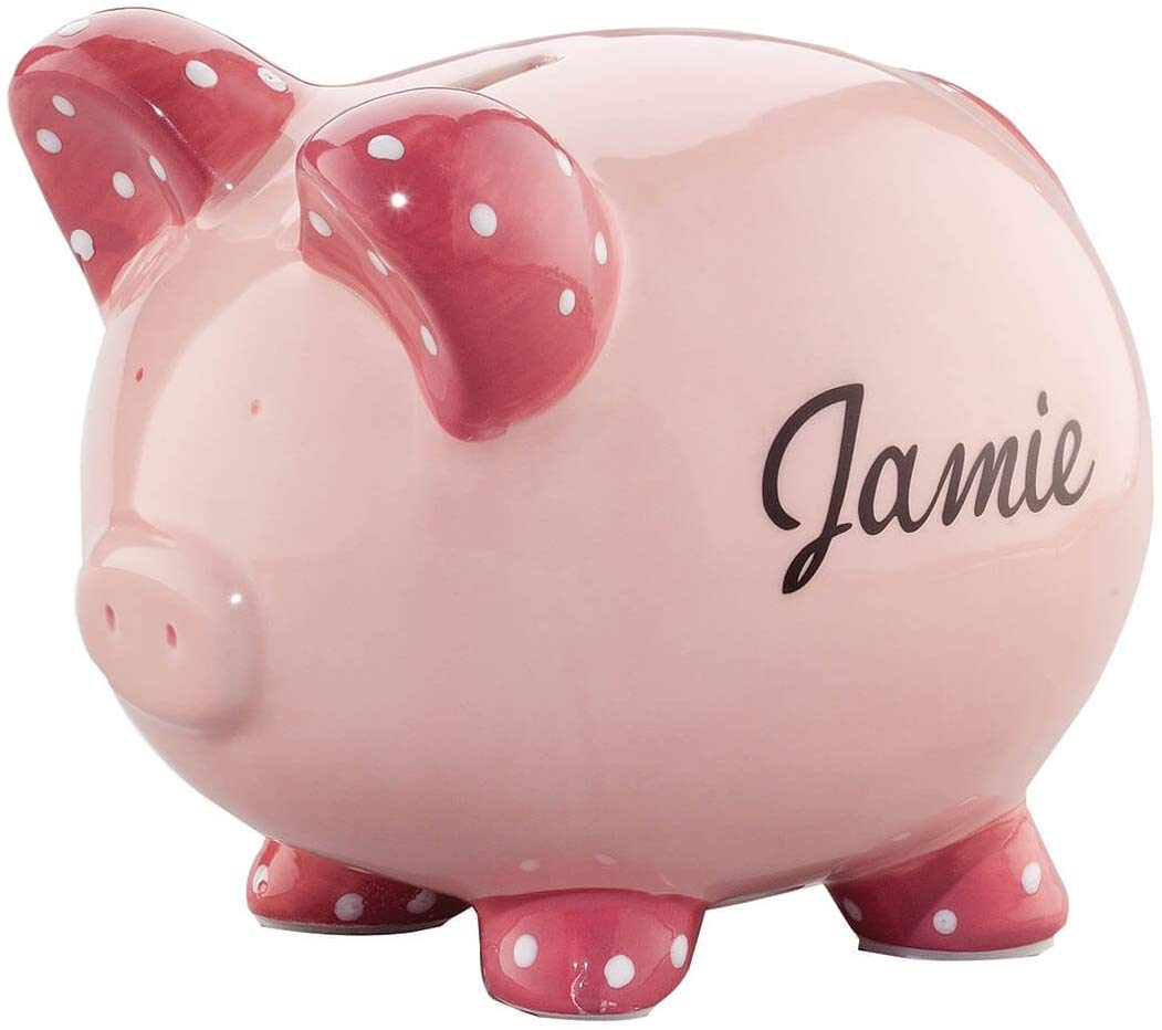 Miles Kimball Personalized Ceramic Kids Piggy Bank