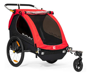 Burley Honey Beet Kids Bike Trailer & Stroller