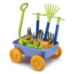 Liberty Imports Garden Wagon & Tools Toy Set for Kids