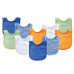 Luvable Friends Unisex Baby Drooler Bibs
