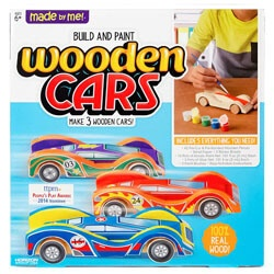Me Build & Paint Your Own Wooden Cars