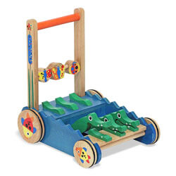 Melissa & Doug Alligator Wooden Push Walker