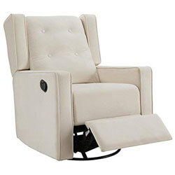 Naomi Home Odelia Swivel Rocker Recliner Cream