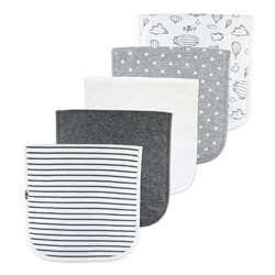 The AZ Baby Gray Thick Cotton Baby Burp Cloths