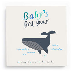 Lucy Darling Baby's First Year Memory Book: A Simple Book of Firsts - Little Captain