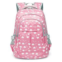 Hearts Print School Backpacks, best cheap kids backpacks, best kids backpacks